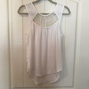 Maurice's cream chiffon sleeveless blouse size XS